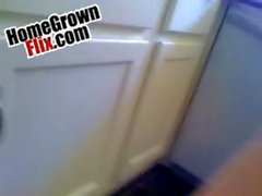Face fucking & a mp_ doggy stroking her in the kitchen - homegrownflix