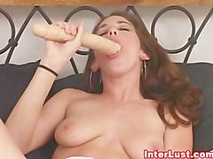 interlust, brunette, solo, bébé, masturbation