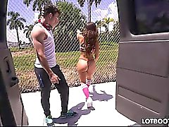 Juicy butt latina Kelsi Monroe takes dick of stranger