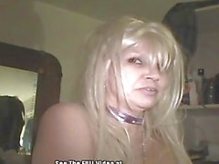 Crack Whore Queen Blonde BlowJob and Butt Fuck!