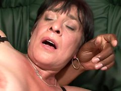 Mature with hairy pussy ass fingering on webcam
