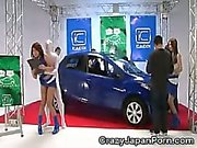 Invisible Guy Fucks Auto Salon Girls!