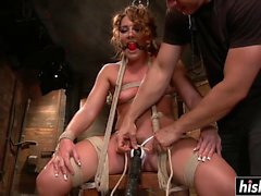 Savannah Fox enjoys some hardcore BDSM