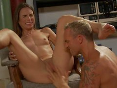 Skinny girl Amber Rayne gets hardcored at the hospital