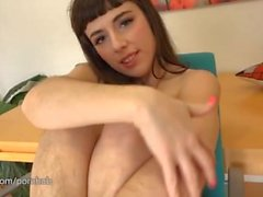 Simone Delilah's hairy pussy, legs, and pits