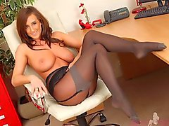 Girls in pantyhose, stockings (video of pics)