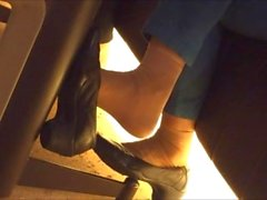 points de voir la, nylon - pied, dangling, asiatique, pov