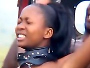 Ebony African teen loves sucking long hard dongs