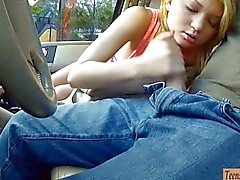 paar, oralsex, teenager, blondine, blowjob