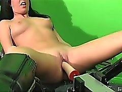 Hot raven haired slut Destiny could smoke any dildo at a