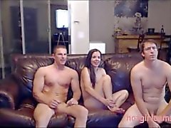 Mark and Heleni invited another stud for sensual threesome