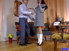 Teen schoolgirl seduces older man