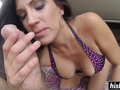 Hairy pussy drilling for Thais Lafunete
