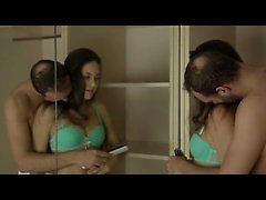 Seductive Carolina Abril peels off her bra and thong to get
