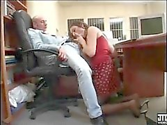 French boss fucks his secretary whore