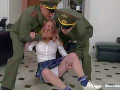 Russian cutie totally abused with dirty dicks