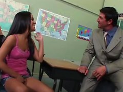 Naughty student gets fucked by the teacher