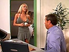 Hot blonde in the office