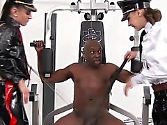 CFNM latex eurobabes dominate big black guy