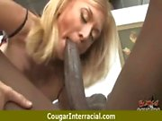 Hot nasty cougar fucks a young black stud 23