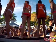 Naked Pool Bar Party Wet Pussy Contest in Key West