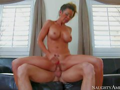 Busty mature slut with athletic body Raquel Devine fucking with passion