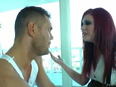 Red haired pig whore Andy San Dimas