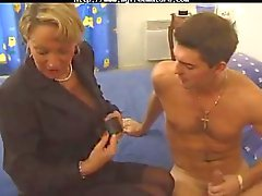 Busty French Mom Likes Dude Cock