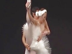 Balerina Getting Her Pussy Fingered While Standing On One Leg On The Stage At The Revue