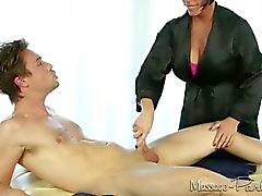 Shay Fox massages and takes a load