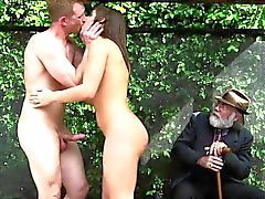 Abella Danger doggystyle public sex
