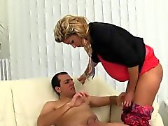 Speechless model in undies is geeting peed on and drilled
