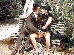 Babe Fucking Outdoors On A Park Bench
