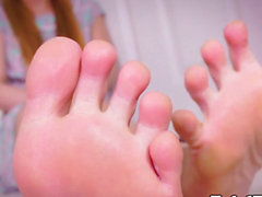 Toes fetish sheboy shows off her nice-looking feet