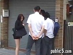 Asian Girl In Short Skirt With No Panties On