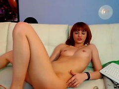 Gorgeous Teen Redhead In Lingerie Blows