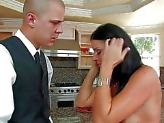 MILF India Summers takes man meat in the kitchen