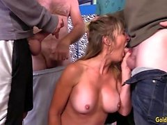 Mature Skyler Haven Gangbang DP n Facial