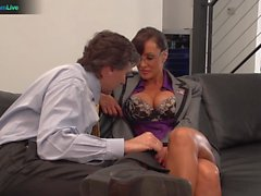 Irresistible Lisa Ann hardcore fuck with her boss