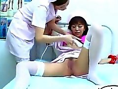 Nurse Tied To Bed Squirting While Pussy Stimulated With Vibrator By Other Nurse In The Hospital
