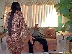 Stunning Diamond Kitty in stockings gets fingered by Cris Commando