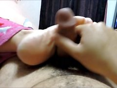 entortillement, point de vue, footjob, pov, pieds