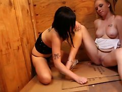 Pretty chicks being kinky and horny together