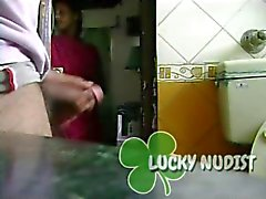 Caught Wanking By Indian Maid But Shes Watches
