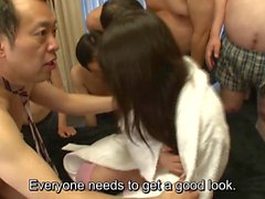 Subtitles Japanese Tsubomi with horde of men in HD