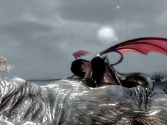 In the mountains of skyrim