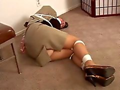 School Teacher tied
