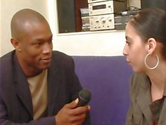 Interview leads to interracial fuck