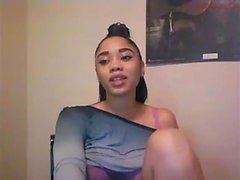 Ebony Fucks Her Creamy Squirting Pussy And Anal On Webcam