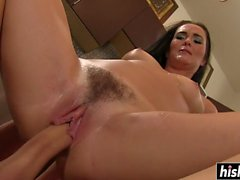 Good looking Bianca gets her hairy cunt plowed